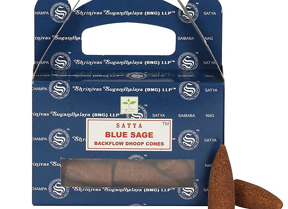 Blue Sage Backflow Incense Cones