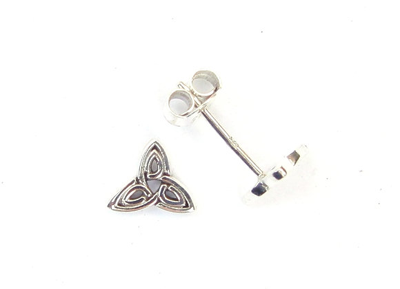 Goddess Triquetra Studs - Sterling Silver