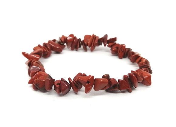 Red Jasper Gem Chip Bracelet