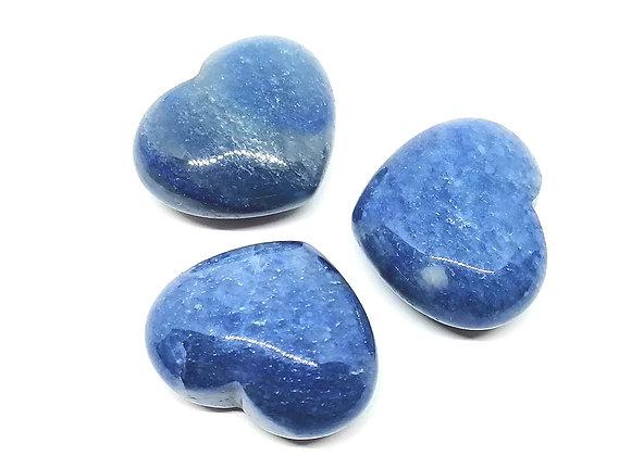 Dumortierite (Blue Quartz) Puff Heart