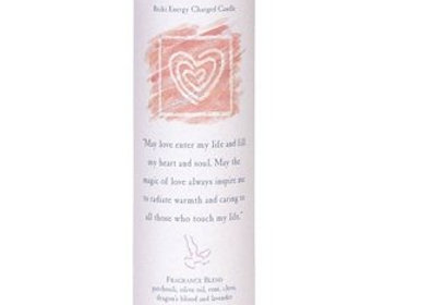 Love - Reiki Pillar Candle