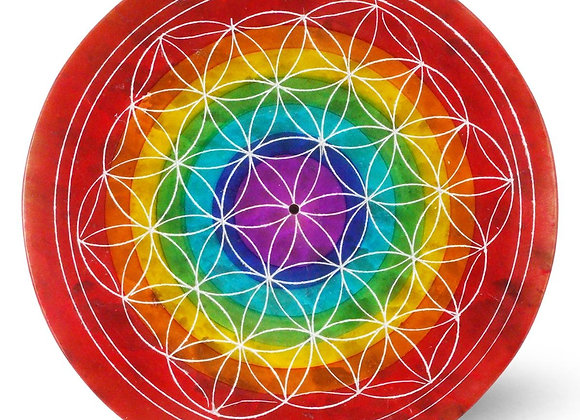 Chakra Flower of Life Incense Holder