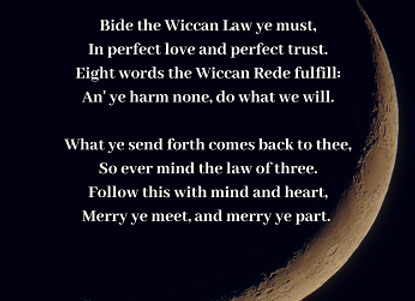 Wiccan Rede (Short) - Crescent Moon