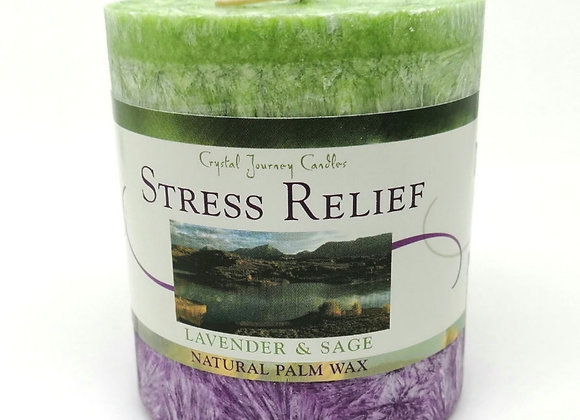 Stress Relief Aromatherapy Pillar Candle
