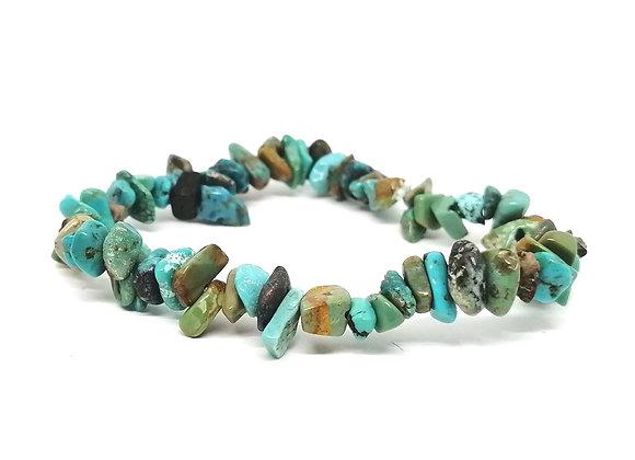 Turquoise Gem Chip Bracelet