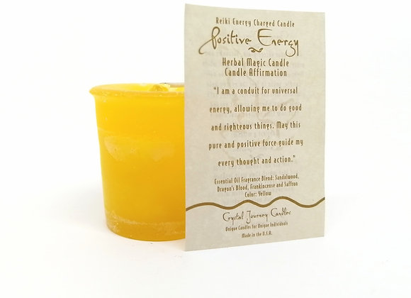 Positive Energy Votive Herbal Magic Candle