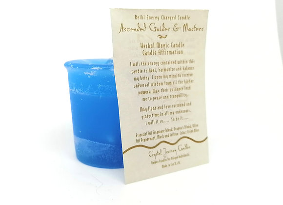 Ascended Masters & Guides Votive Herbal Magic Candle
