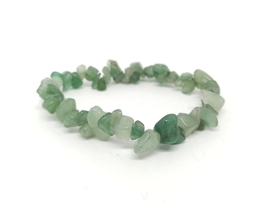 Green Aventurine Gem Chip Bracelet