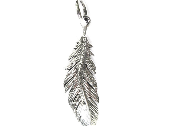 Feather Pendant - Sterling Silver