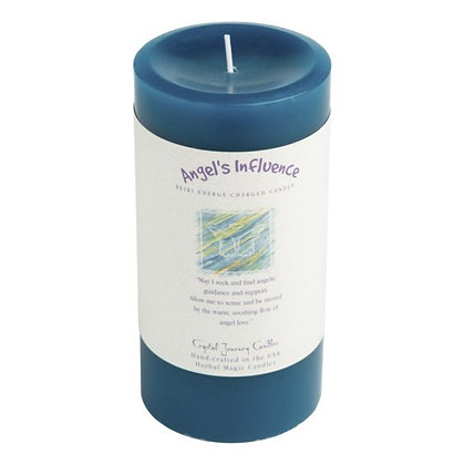 Angel's Influence - Reiki Pillar Candle