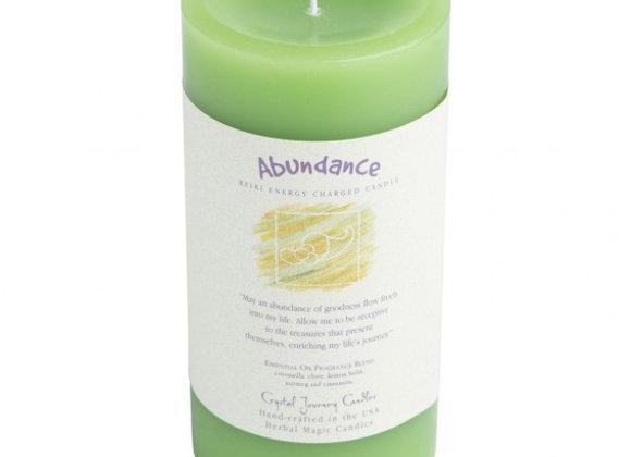 Abundance - Reiki Pillar Candle