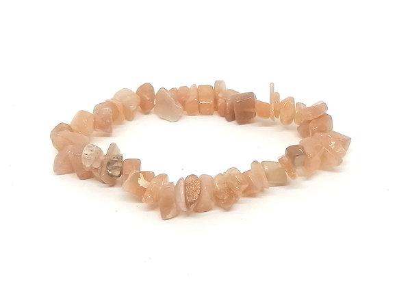 Sunstone Gem Chip Bracelet