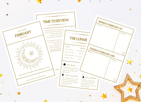 Monthly Magickal Planner - February 2021