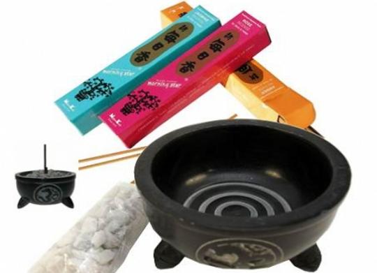 Om Incense Bowl & Stones