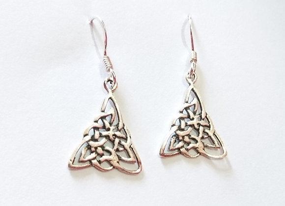 Celtic Knot Triangle Earrings