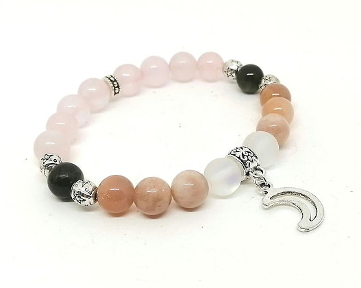 Lunar Energy Gemstone Bead Bracelet