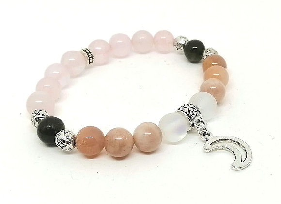 Lunar Energy Gemstone Bead Bracelet