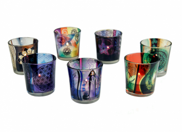 Glass Tealight Holders - 7 Designs
