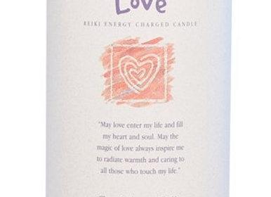 Love - Reiki Pillar Candle