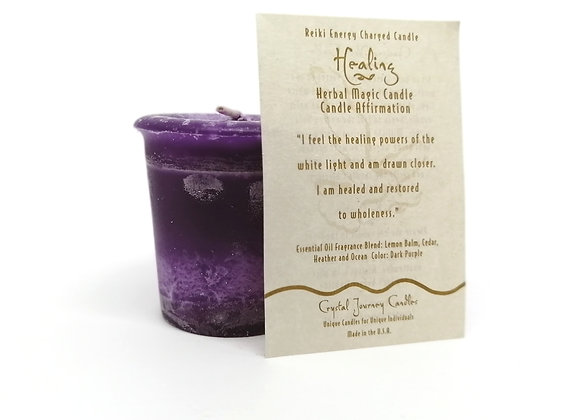 Healing Votive Herbal Magic Candle