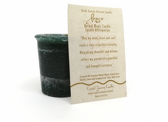 Peace Votive Herbal Magic Candle