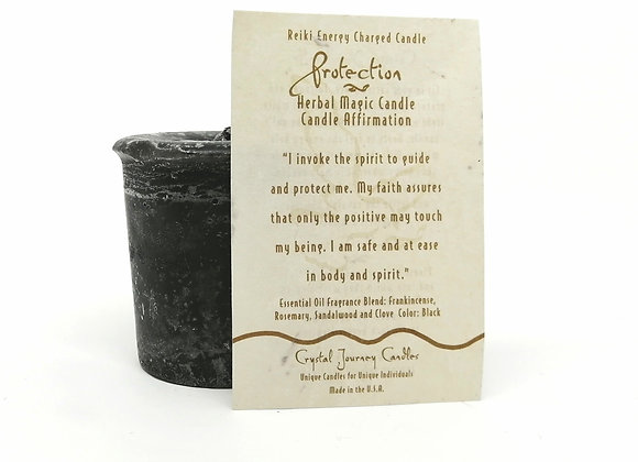 Protection Votive Herbal Magic Candle