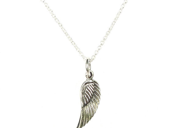 Angel Wing Necklace - Sterling Silver