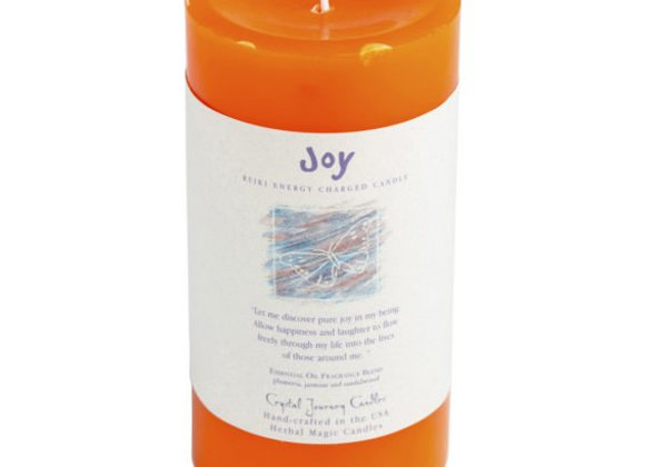 Joy - Reiki Pillar Candle