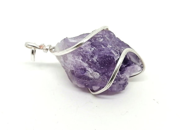 Wire-Wrapped Natural Amethyst