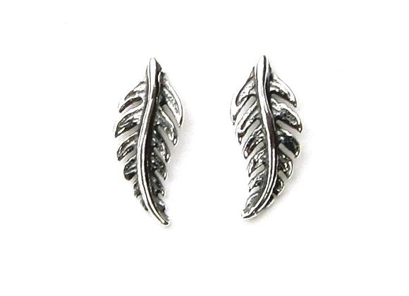 Feather Studs - Sterling Silver