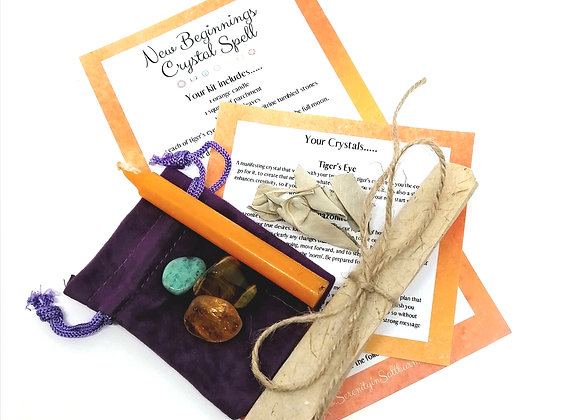 New Beginnings Crystal Spell Kit
