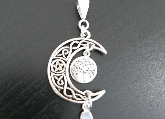 Celtic Knot Moon Pendant