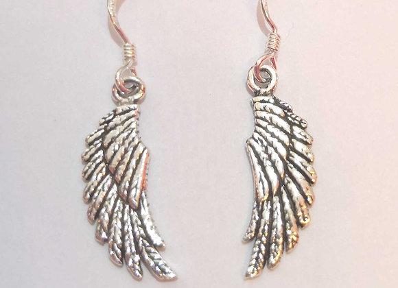 Angel Wing Earrings - Sterling Silver