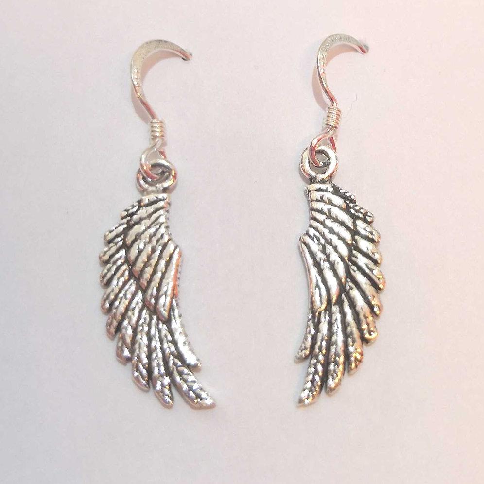 Angel Wing Earrings Sterling Silver