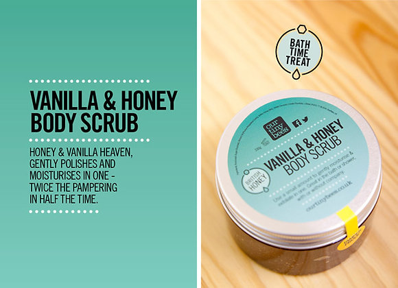 Vanilla & Honey 100% Natural Body and Foot Scrub from Our Tiny Bees at Serenity