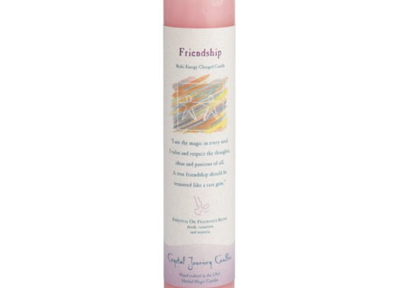 Friendship - Reiki Pillar Candle