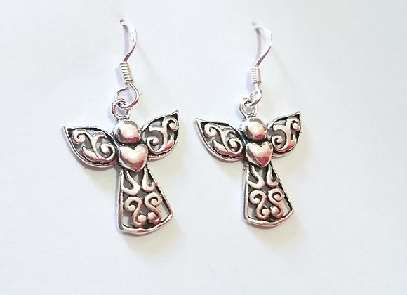 Angel & Heart Earrings