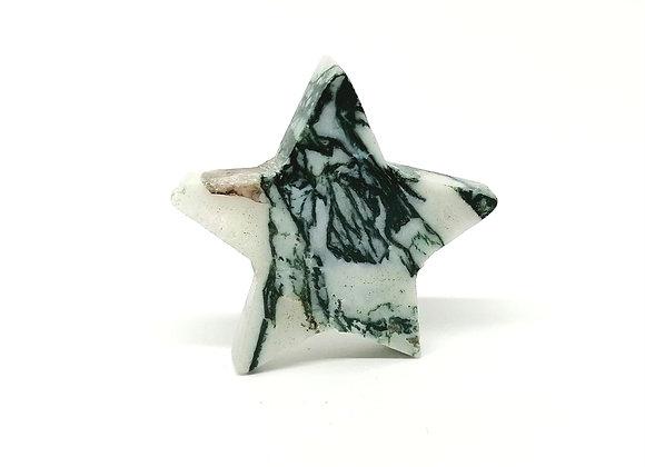 Green Moss Agate Star