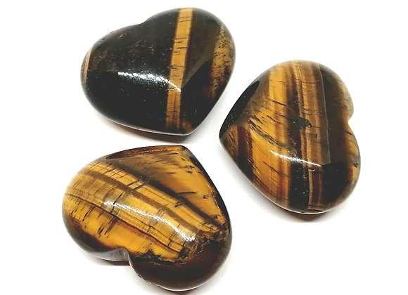 Gold Tiger's Eye Puff Heart
