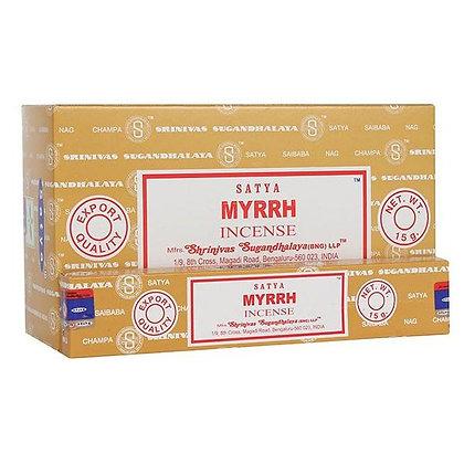 Myrrh Satya Incense Sticks