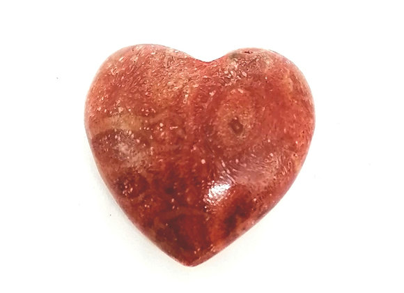 Red Coral Puff Heart