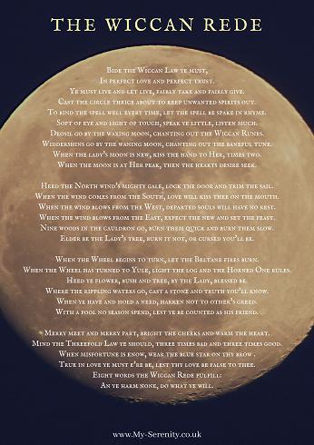 Wiccan Rede (Long) - Full Moon   Serenity in Saltburn