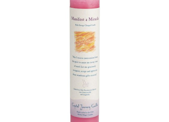 Manifest a Miracle - Reiki Pillar Candle
