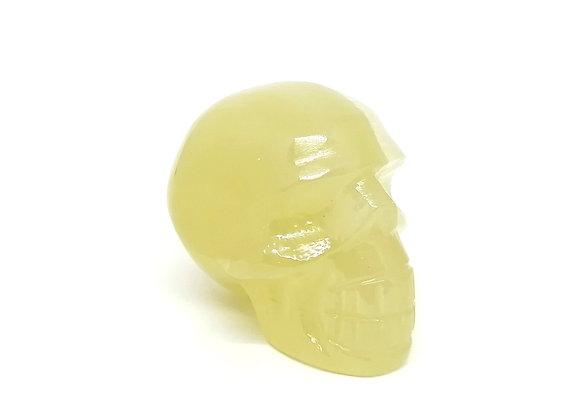 Green Calcite Skull