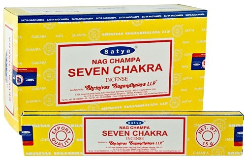 Seven Chakra Satya Incense Sticks