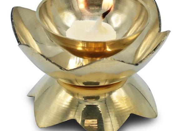 Oriental Brass Candle Holder 'Diya'