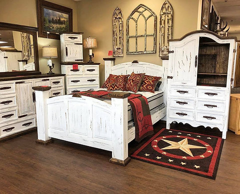 Antique White Bedroom Set