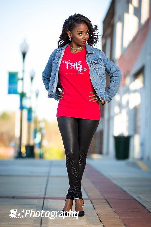 Not THIS Year Tee (red)