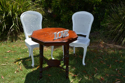 Rattan Style Signing Chairs