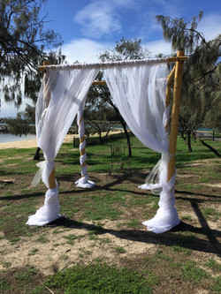 4 Post Bamboo Arbour